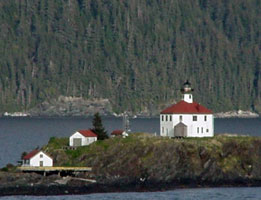 Scenic Eldred Rock Lighthouse on the Fjord Express to Juneau trip with Alaska Fjordlines
