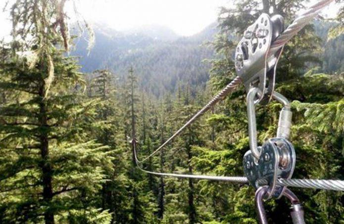 Ziplining and Skiing in Alaska